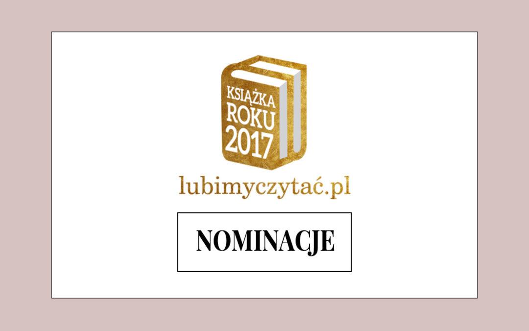 Nominacje Lubimyczytać.pl: Książka Roku 2017