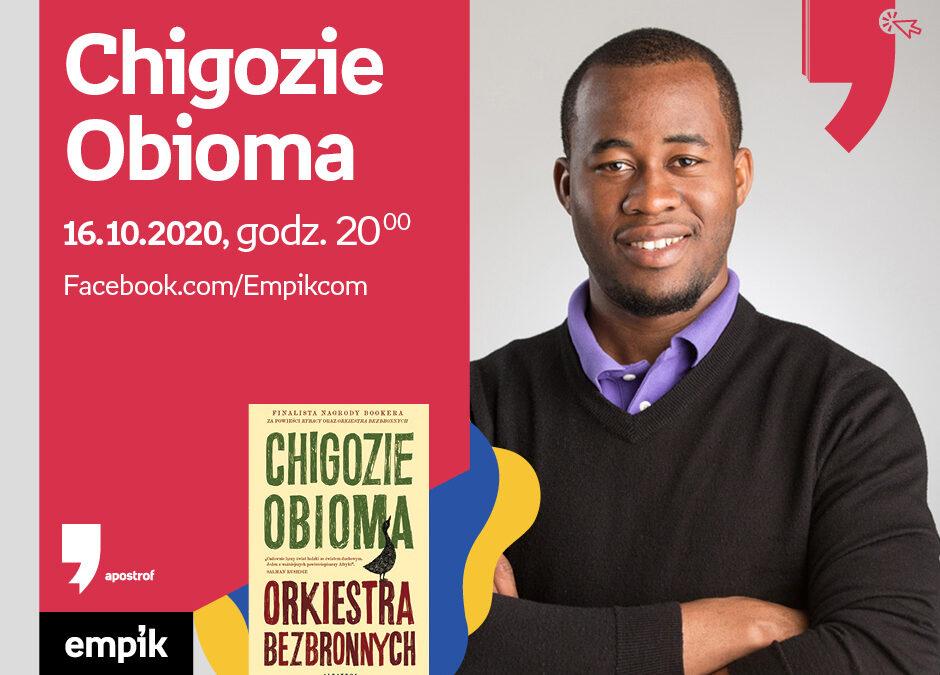 Wirtualne Targi Książki. Apostrof: Spotkanie z Chigoziem Obiomą – piątek 16 października 2020, godz. 20:00